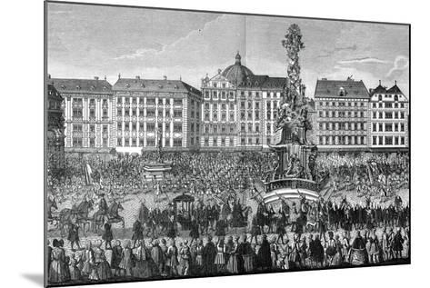 The Oath of Fealty to Maria Theresa as Archduchess of Austria, 22 November 1740--Mounted Giclee Print
