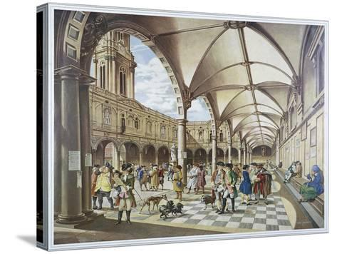 Courtyard of the Royal Exchange, London, 1960--Stretched Canvas Print