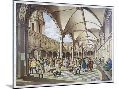 Courtyard of the Royal Exchange, London, 1960--Mounted Giclee Print