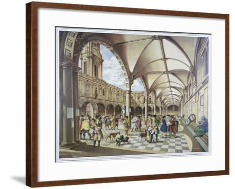 Courtyard of the Royal Exchange, London, 1960--Framed Art Print