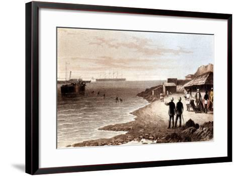 Laying of the Telegraph Cable across the Indian Ocean Between Bombay and Aden, 1870--Framed Art Print