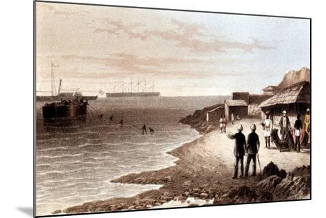 Laying of the Telegraph Cable across the Indian Ocean Between Bombay and Aden, 1870--Mounted Giclee Print