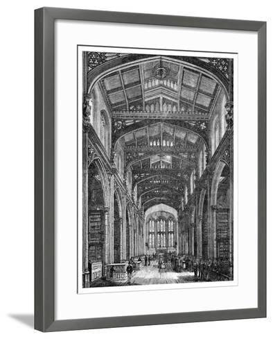 Interior of the Library, Guildhall, City of London, 1886--Framed Art Print