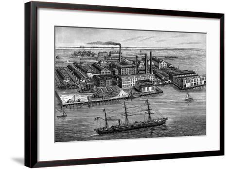 India Rubber, Gutta Percha and Telegraph Works Company Factory, Silvertown, London, 1887--Framed Art Print