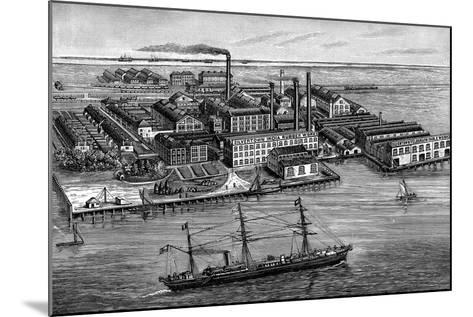 India Rubber, Gutta Percha and Telegraph Works Company Factory, Silvertown, London, 1887--Mounted Giclee Print