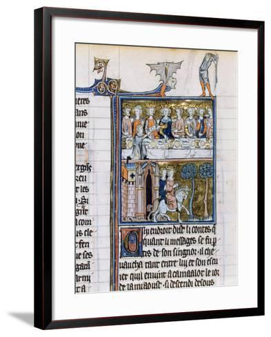 Banquet and Riders, C1280-1290--Framed Art Print