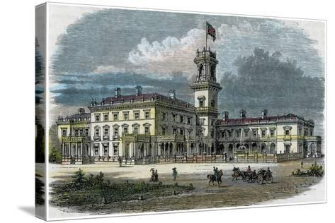 Government House, Melbourne, Victoria, Australia, C1880--Stretched Canvas Print