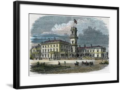 Government House, Melbourne, Victoria, Australia, C1880--Framed Art Print