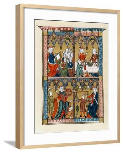 Prudence, Temperance, Fortitude and Justice, 1290-1300--Framed Art Print