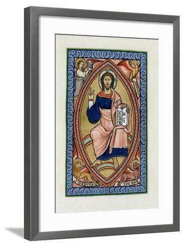 Christ in Glory with the Symbols of the Four Evangelists, C1200--Framed Art Print