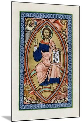 Christ in Glory with the Symbols of the Four Evangelists, C1200--Mounted Giclee Print
