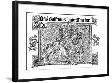 Sir Geoffrey Luttrell, His Wife, and Daughter-In-Law, 1340--Framed Art Print