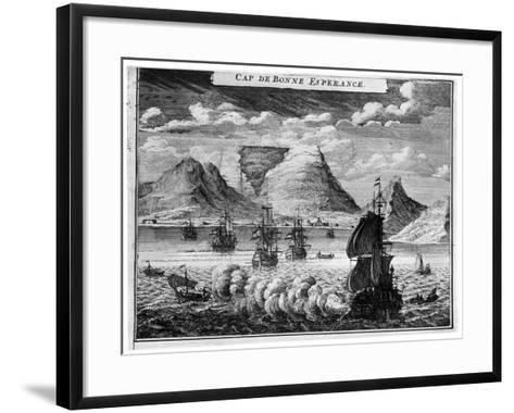 The Arrival of the Fleet in the Time of Simon Van Der Stel, 1931--Framed Art Print