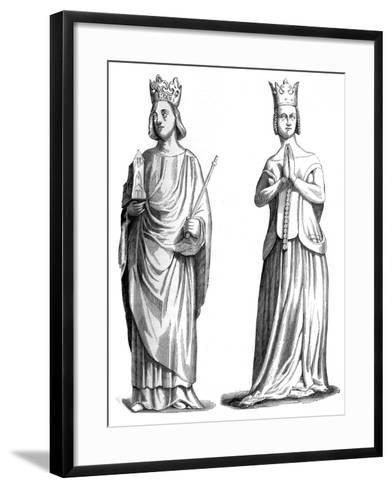 King Charles V of France (1337-138) and Joanna of Bourbon (1338-137), 1849--Framed Art Print