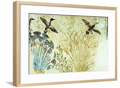 Wall Painting from the Tomb of Akhenaten, Ancient Egyptian, 18th Dynasty, C1375 Bc--Framed Art Print