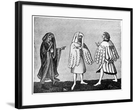 Male Dress, 14th Century--Framed Art Print