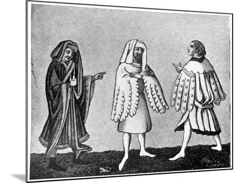 Male Dress, 14th Century--Mounted Giclee Print
