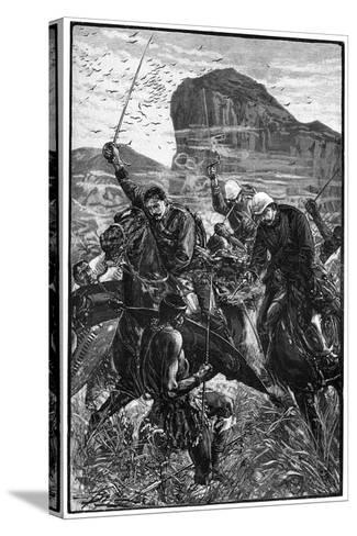 The Dash with the Colours, Battle of Isandlwana, Anglo-Zulu War, 22 January 1879--Stretched Canvas Print