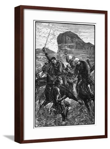 The Dash with the Colours, Battle of Isandlwana, Anglo-Zulu War, 22 January 1879--Framed Art Print