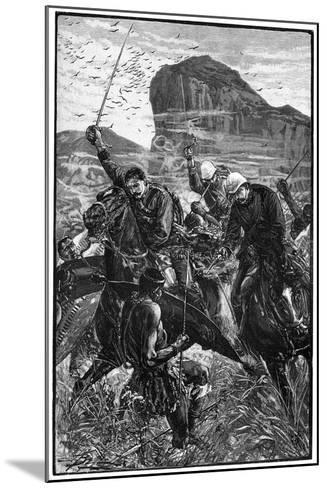 The Dash with the Colours, Battle of Isandlwana, Anglo-Zulu War, 22 January 1879--Mounted Giclee Print