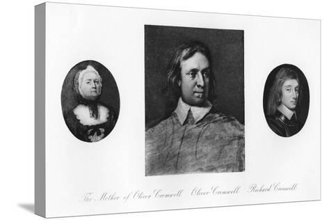 Elizabeth Cromwell, Oliver Cromwell, and Richard Cromwell--Stretched Canvas Print