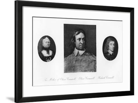 Elizabeth Cromwell, Oliver Cromwell, and Richard Cromwell--Framed Art Print