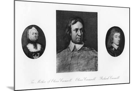 Elizabeth Cromwell, Oliver Cromwell, and Richard Cromwell--Mounted Giclee Print