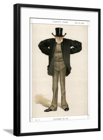 Newcastle on Tyne, Joseph Cowen, British Politician, 1872-Coide-Framed Art Print