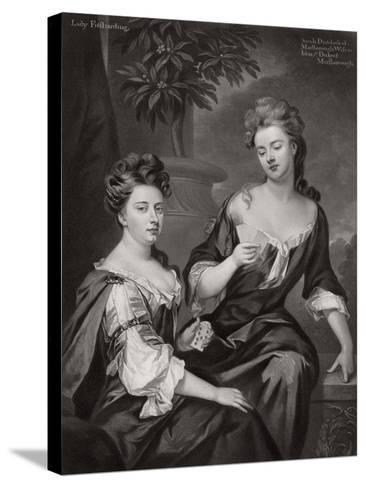 Sarah, Duchess of Marlborough, and Lady Fitzharding, C1702--Stretched Canvas Print