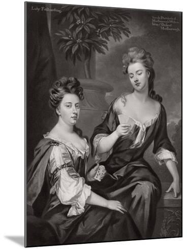 Sarah, Duchess of Marlborough, and Lady Fitzharding, C1702--Mounted Giclee Print