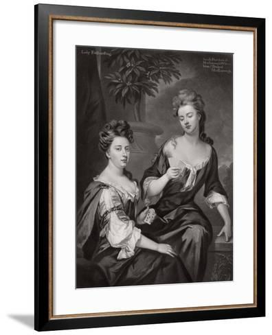 Sarah, Duchess of Marlborough, and Lady Fitzharding, C1702--Framed Art Print