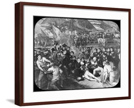 Admiral Lord Nelson Wounded at the Battle of Trafalgar, 1805-Newton & Co-Framed Art Print
