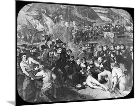 Admiral Lord Nelson Wounded at the Battle of Trafalgar, 1805-Newton & Co-Mounted Giclee Print