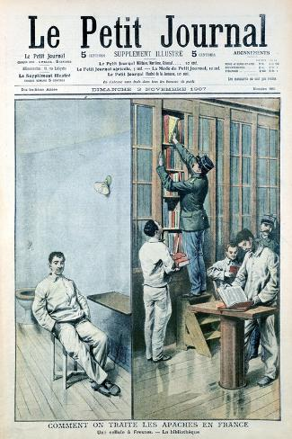 Cell and Library at the Prison at Fresnes, 1907--Stretched Canvas Print
