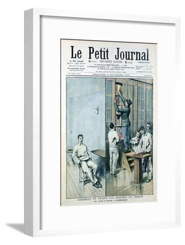 Cell and Library at the Prison at Fresnes, 1907--Framed Art Print