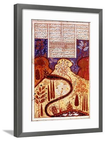 A Paradise Garden, Persian Miniature, C1300--Framed Art Print