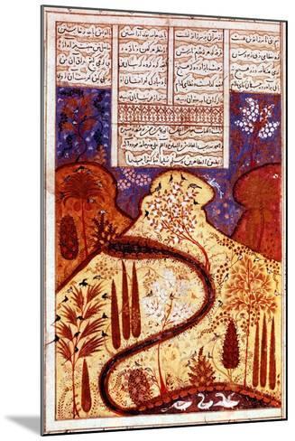 A Paradise Garden, Persian Miniature, C1300--Mounted Giclee Print