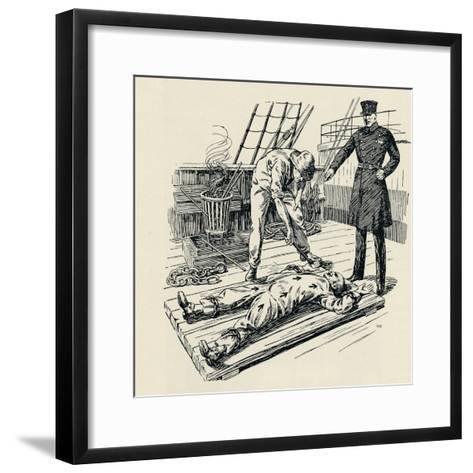 Branding of a Convict, 1934--Framed Art Print