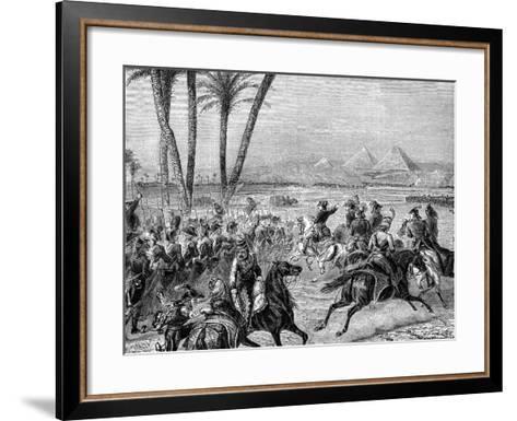 Battle of the Pyramids, 21st July 1798 (1882-188)--Framed Art Print