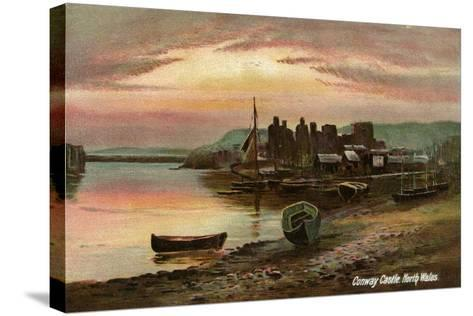Conway Castle, Caernarvonshire, North Wales, Late 19th or Early 20th Century- Langsdorff and Co-Stretched Canvas Print