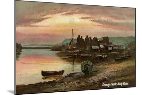Conway Castle, Caernarvonshire, North Wales, Late 19th or Early 20th Century- Langsdorff and Co-Mounted Giclee Print