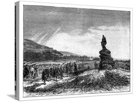 Queen Victoria Unveiling a Statue of Prince Albert at Balmoral, Scotland, 1860S--Stretched Canvas Print