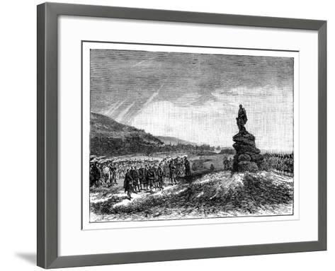 Queen Victoria Unveiling a Statue of Prince Albert at Balmoral, Scotland, 1860S--Framed Art Print