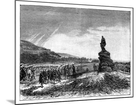 Queen Victoria Unveiling a Statue of Prince Albert at Balmoral, Scotland, 1860S--Mounted Giclee Print