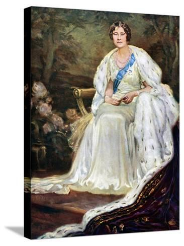 Queen Elizabeth in Coronation Robes, 1937--Stretched Canvas Print