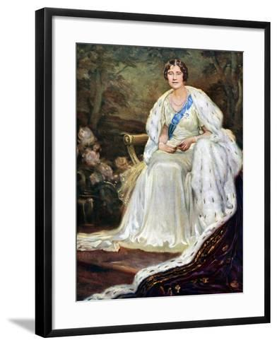 Queen Elizabeth in Coronation Robes, 1937--Framed Art Print