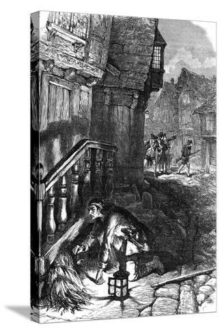 Detection of an Incendiary, American Revolutionary War, C1776--Stretched Canvas Print