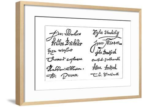 Signatures of the Pilgrim Fathers, 1620S--Framed Art Print