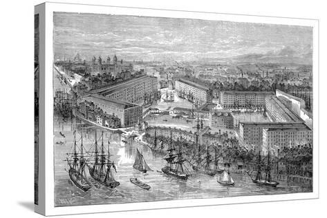 St Katherine's Docks, London, Late 19th Century--Stretched Canvas Print