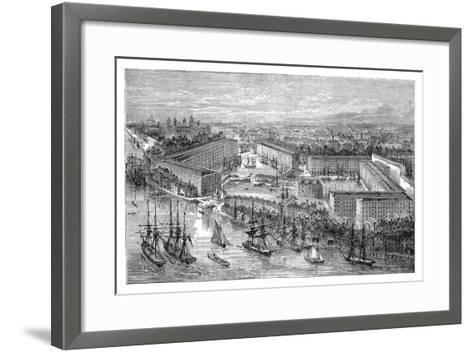 St Katherine's Docks, London, Late 19th Century--Framed Art Print
